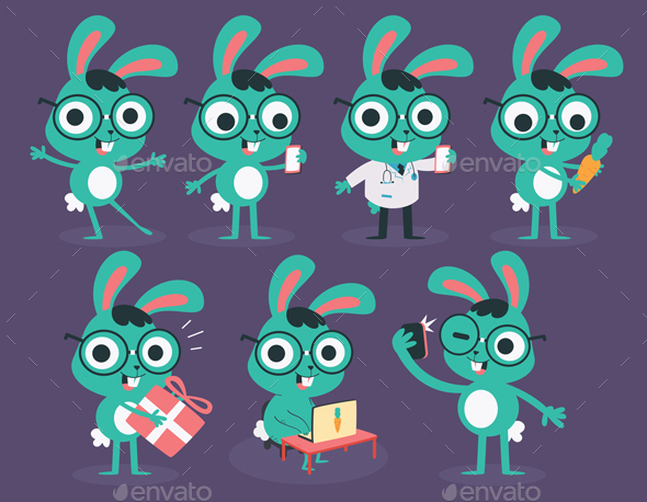 Nerd Bunny Collection - Animals Characters