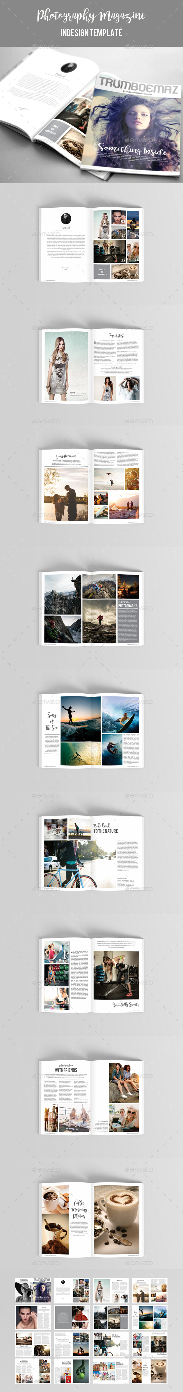 Photography Magazine Template - Magazines Print Templates