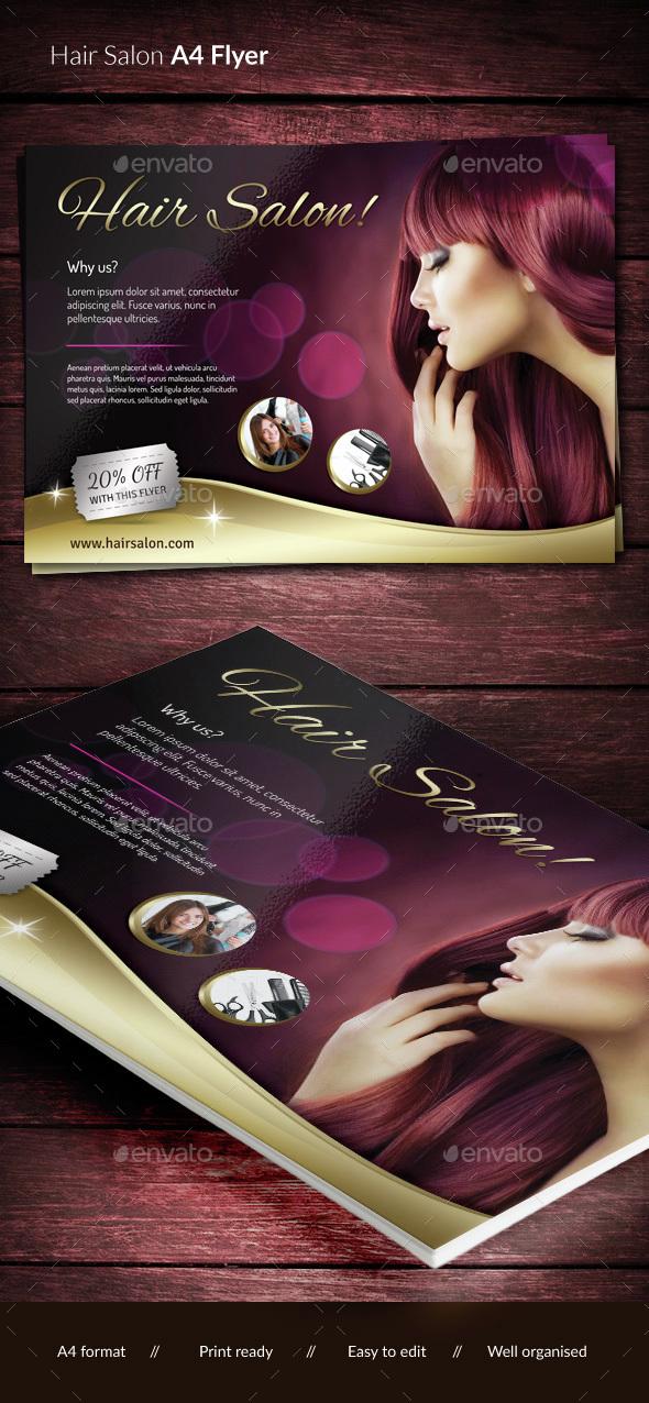 Hair & Beauty Salon - Corporate Flyers