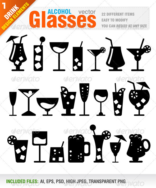 Alcohol Glasses - Food Objects