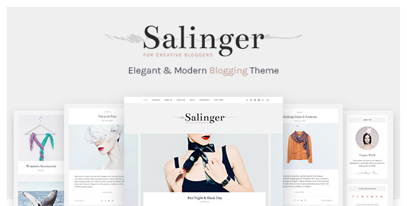 Salinger – Personal Blog & Portfolio WordPress Theme