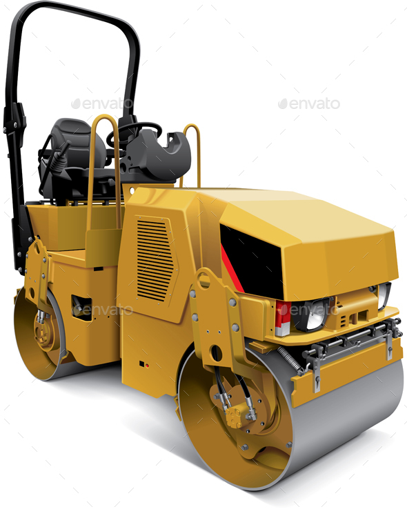 Tandem Vibratory Roller - Man-made Objects Objects