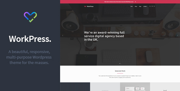 WorkPress - Responsive, Modular, Multi-Purpose WordPress Theme - Creative WordPress
