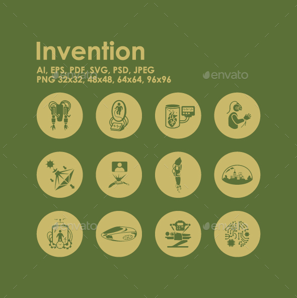 12 Invention icons - Technology Icons