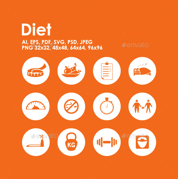 12 Diet icons - Miscellaneous Icons