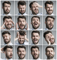 Set of young man's portraits with different emotions - PhotoDune Item for Sale