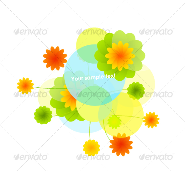 Clean floral background - Characters Vectors