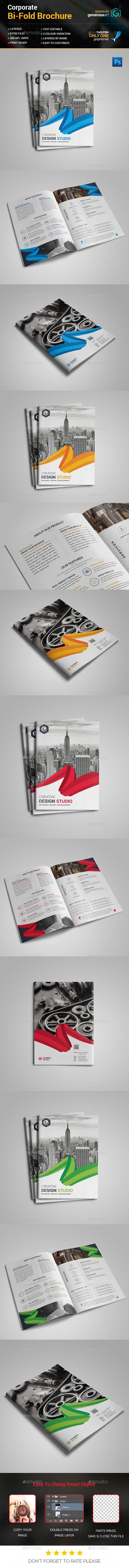 Bi-Fold Business Brochure Template - Brochures Print Templates