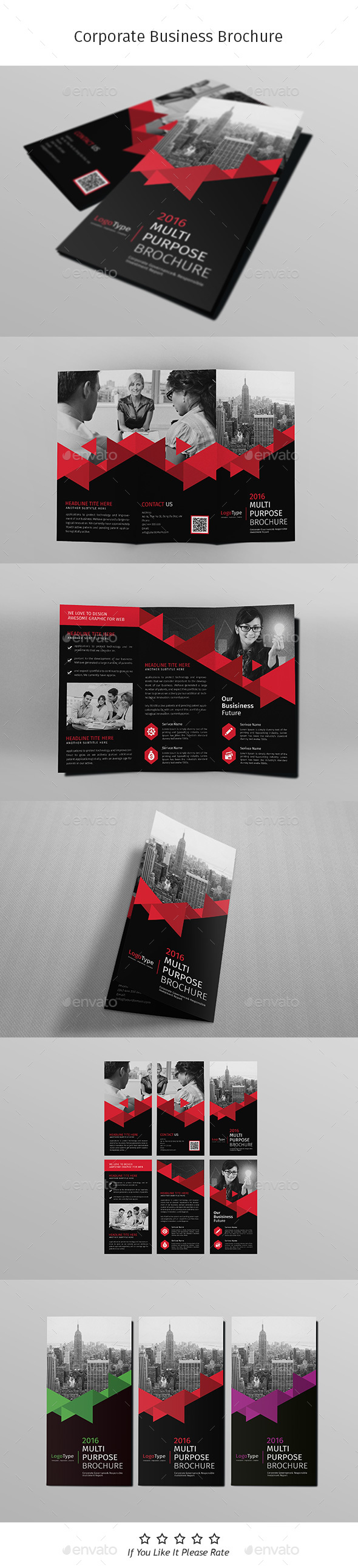 A4 Corporate Business Flyer Template Vol 08 - Corporate Brochures
