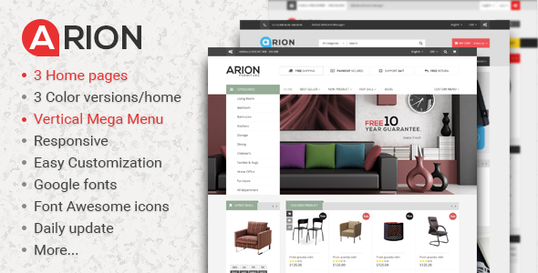 Arion Responsive Prestashop Theme