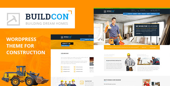 Buildcon - Construction and Renovation WordPress Theme - WordPress