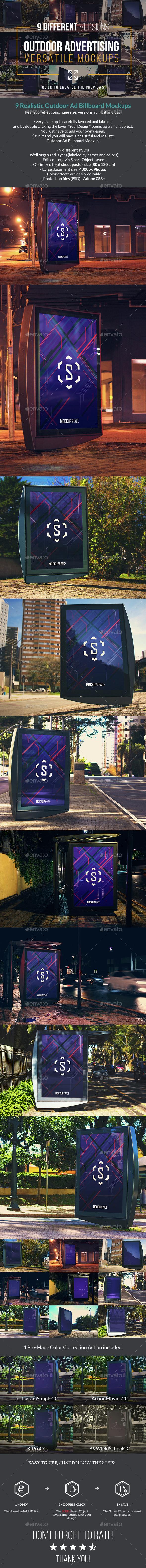 Outdoor Ad Billboard - 9 Mock-up - Signage Print