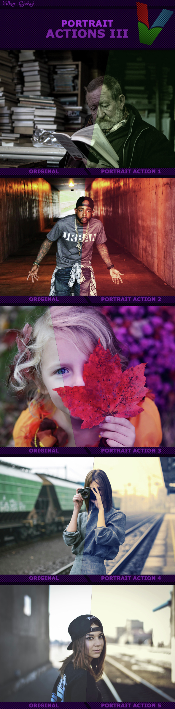 Portrait Actions III - Photo Effects Actions