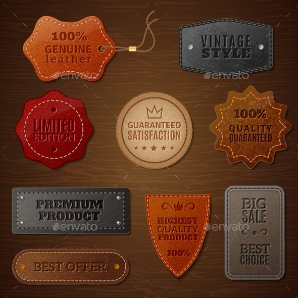 Leather Label Set - Retail Commercial / Shopping