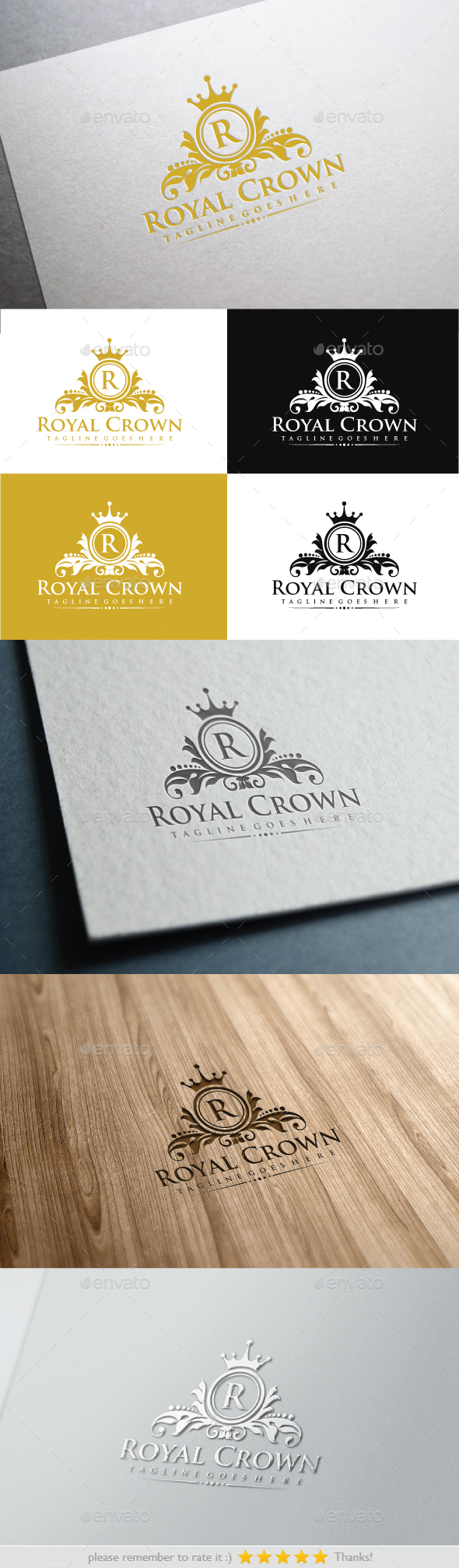 Royal Crown - Crests Logo Templates