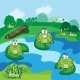 Little Frogs in the Pond - GraphicRiver Item for Sale