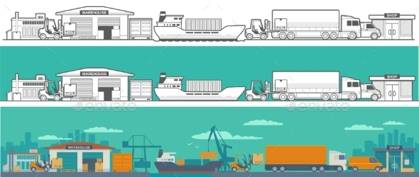 Logistic Concept of Warehouse - Industries Business