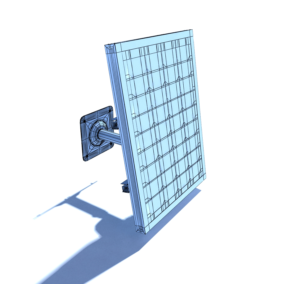 Wall Mount Solar Panel High Detaile By Cerebrate 3docean