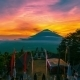 Sunset On The Background Volcano Gunung Agung in Bali, Indonesia - VideoHive Item for Sale