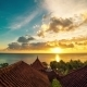 Sunrise Overlooking The Roofs Of The Bungalows And The Ocean in Bali - VideoHive Item for Sale
