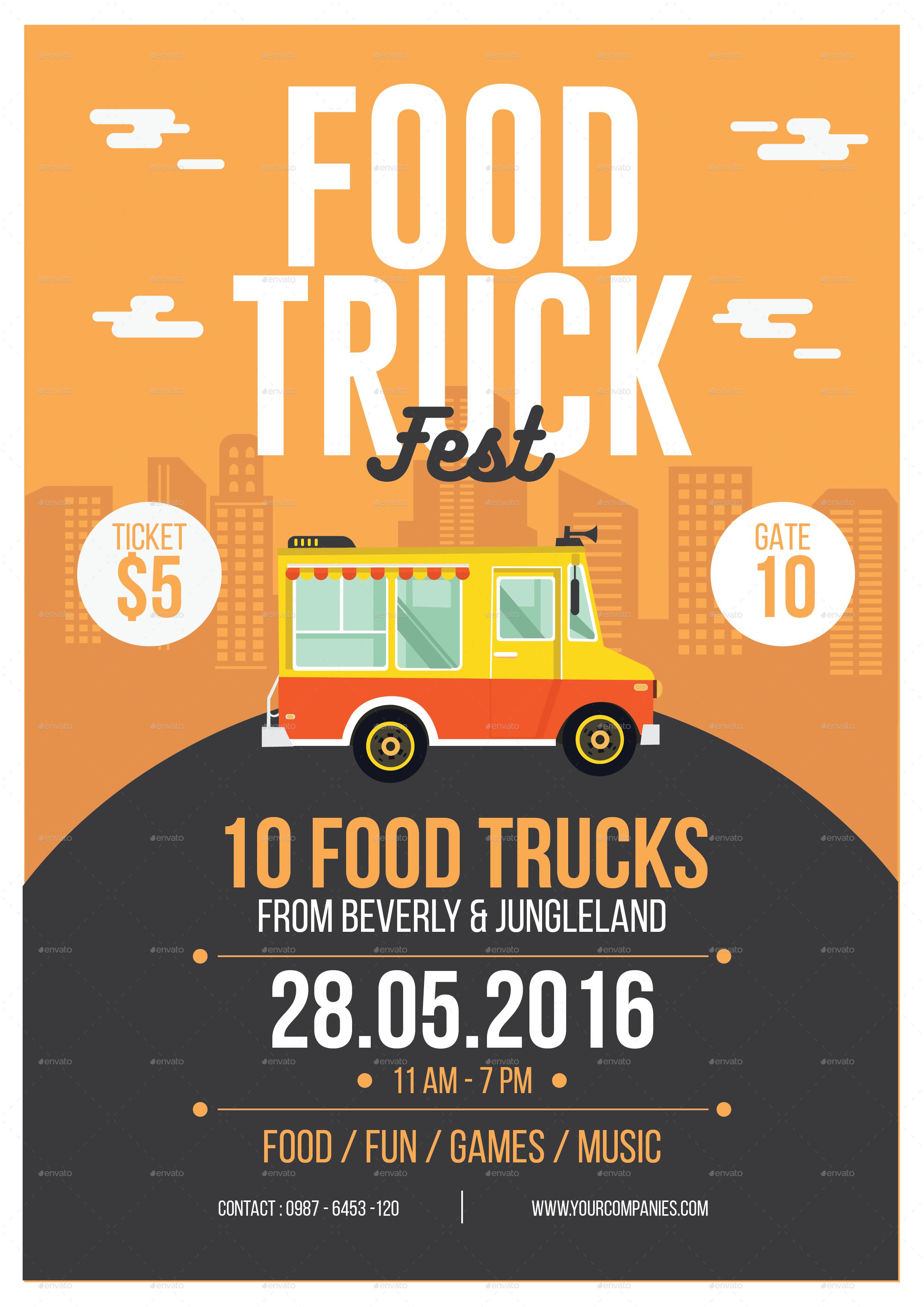 Food Truck Flyer Carnavaljmsmusicco - Food truck flyer template