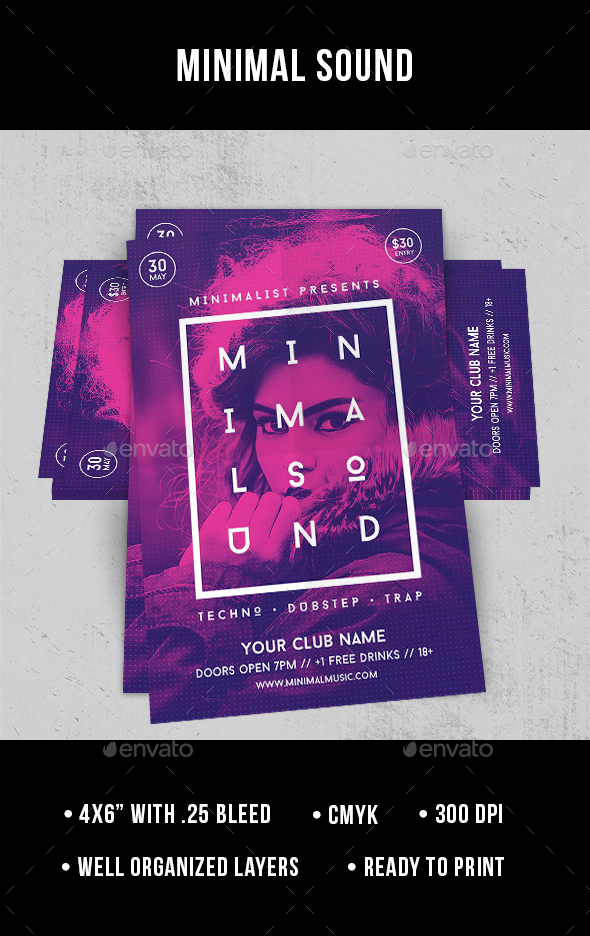Minimal Sound - Flyer - Clubs & Parties Events
