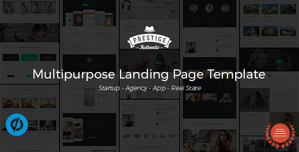 Prestige – Multipurpose Landing Pages Template