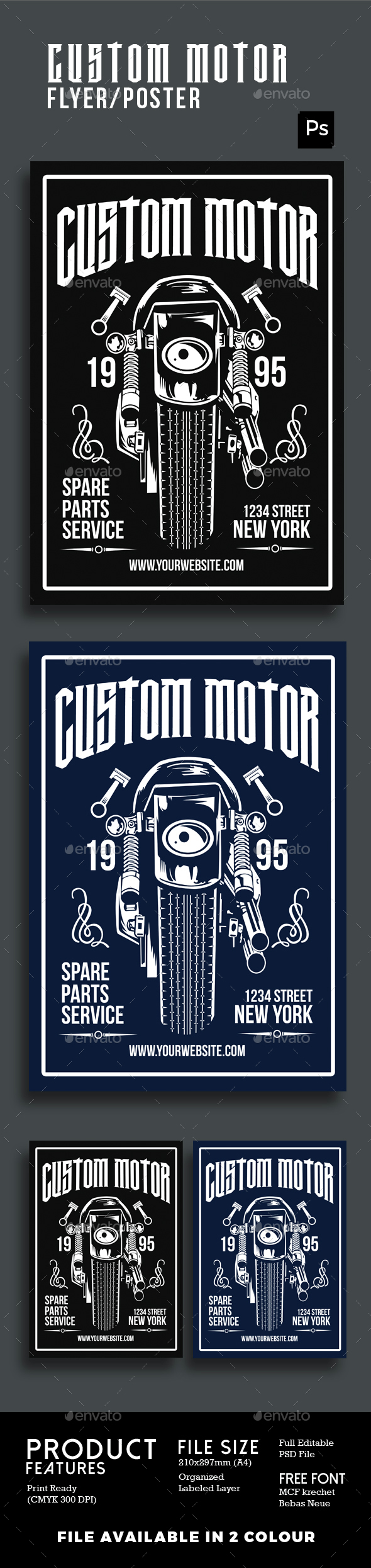 Custom Motor Poster Flyer - Flyers Print Templates