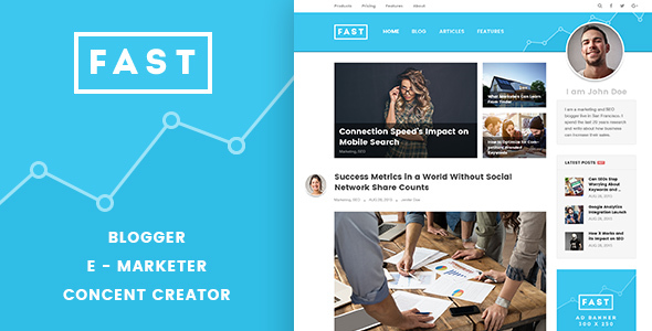 FastBlog – WordPress Theme for Personal and Creative Agency