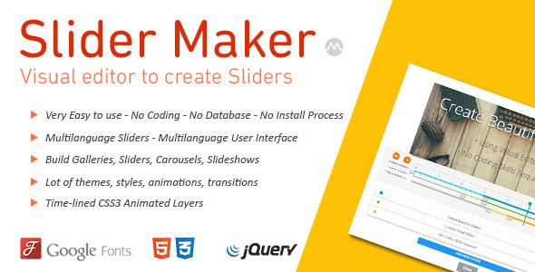 Slider Maker - CodeCanyon Item for Sale