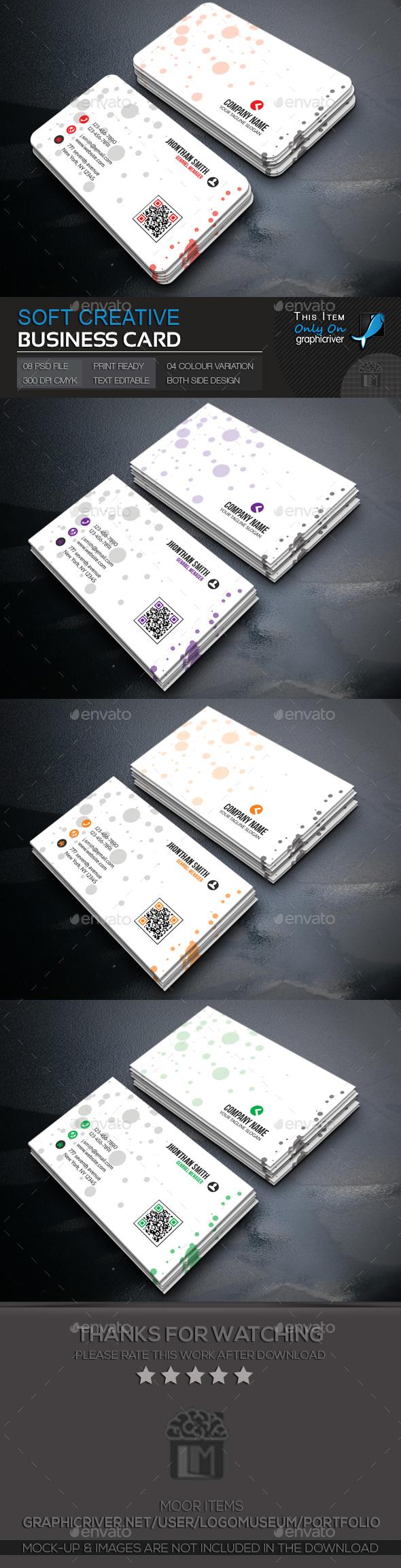 Soft Creative Business Card - Creative Business Cards