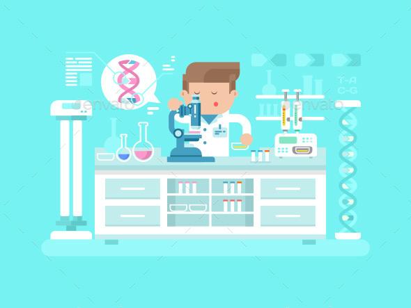 Genetics Doctor Man - People Characters