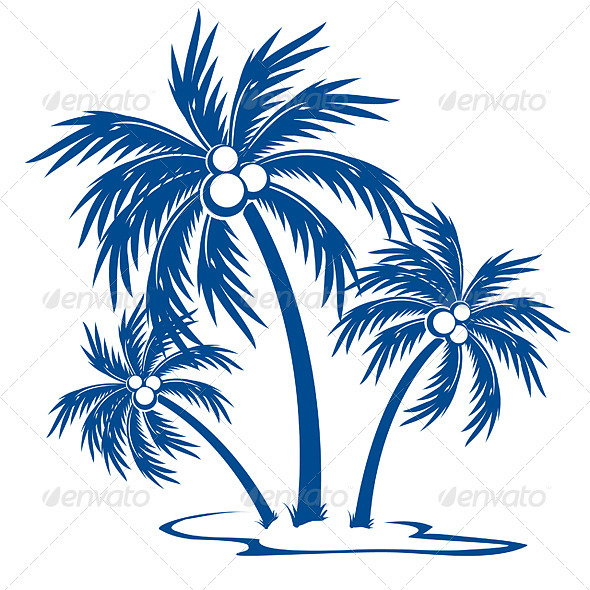 Silhouette Palm trees - Flowers & Plants Nature