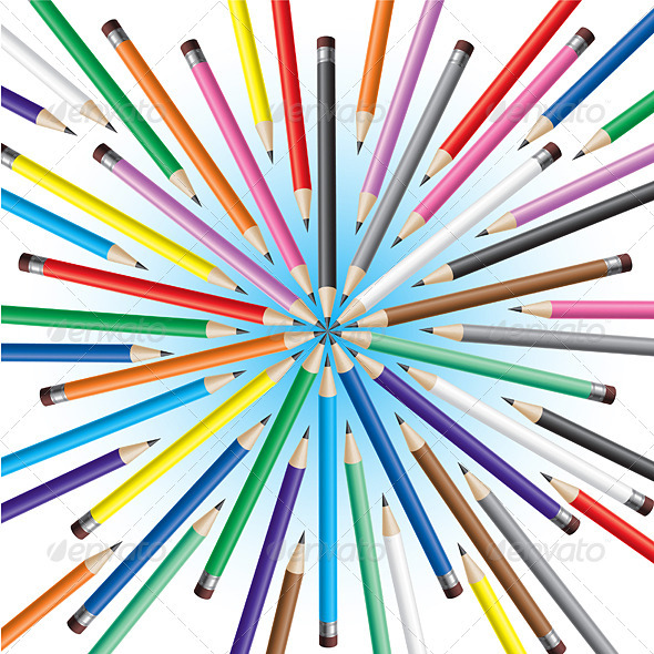 Chaotic pencils - Backgrounds Decorative