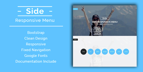 Side - Responsive Menu - CodeCanyon Item for Sale