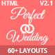 Perfect Wedding - Responsive Wedding Event & Planner Bootstrap Template Nulled