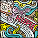2 Hippie Doodles Seamless Patterns - GraphicRiver Item for Sale