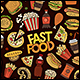 Fast Food Doodles Objects Set - GraphicRiver Item for Sale