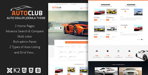 Auto Club Responsive Car Dealer Joomla Template By Dasinfomedia