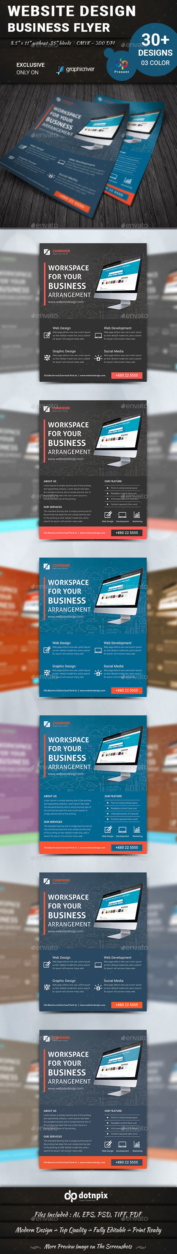 Website Design Flyer | Volume 3 - Corporate Flyers
