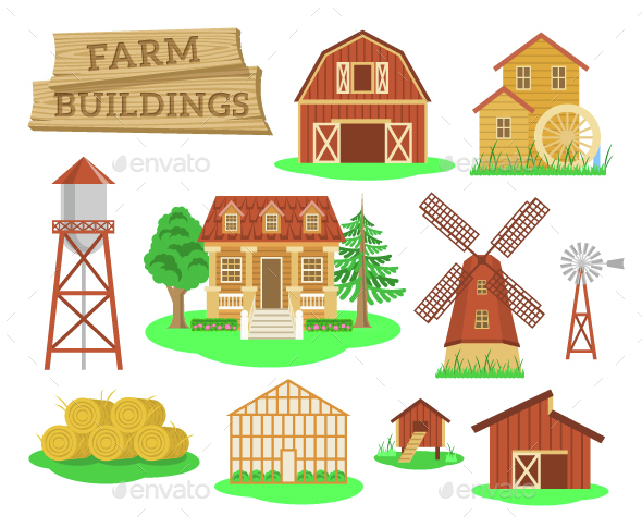 Farm Buildings and Elements - Buildings Objects