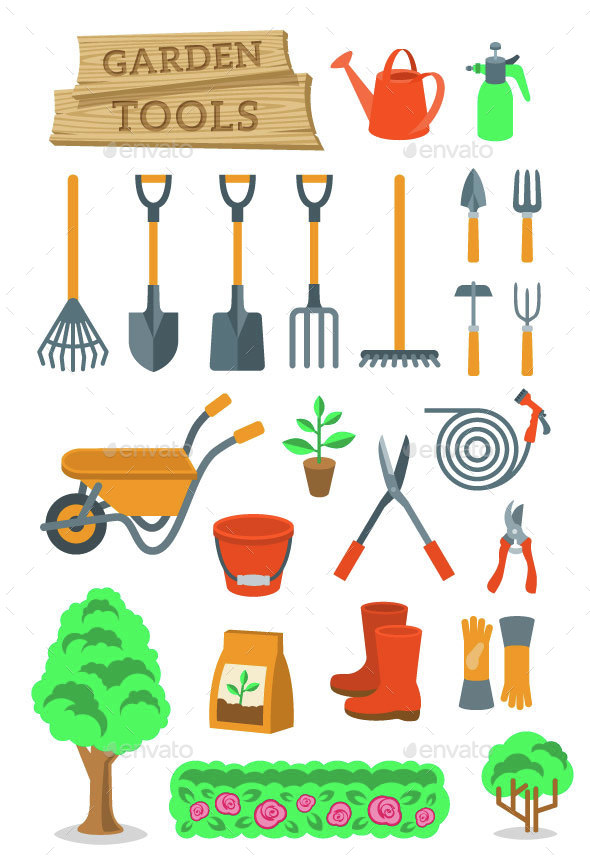 Gardening and Farming Tools and Instruments - Man-made Objects Objects