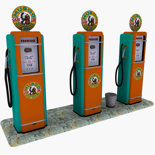 Gas Pump Musgo - 3DOcean Item for Sale