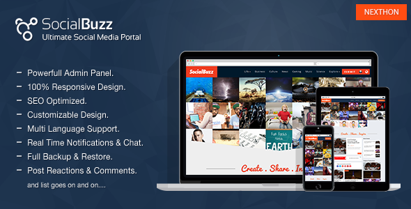 SocialBuzz - Ultimate Social Media Portal - CodeCanyon Item for Sale