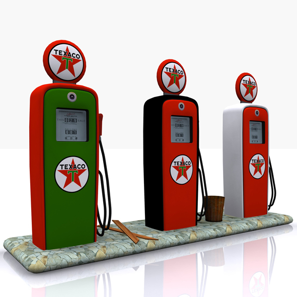 Gas Pump Texaco - 3DOcean Item for Sale