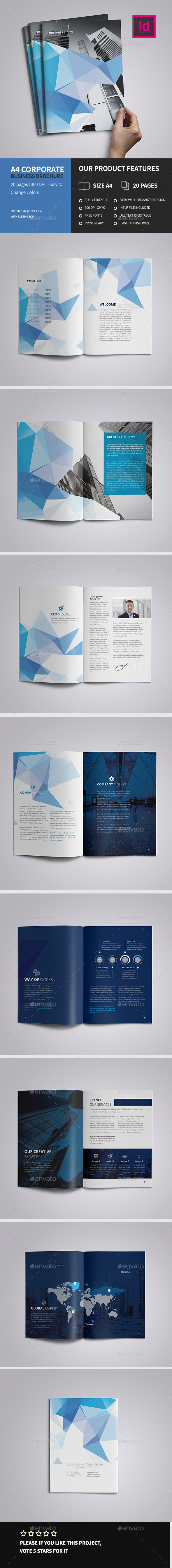 A4 Corporate Business Brochure - Corporate Brochures