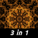 Gold Kaleidoscopes (3 pack) - VideoHive Item for Sale