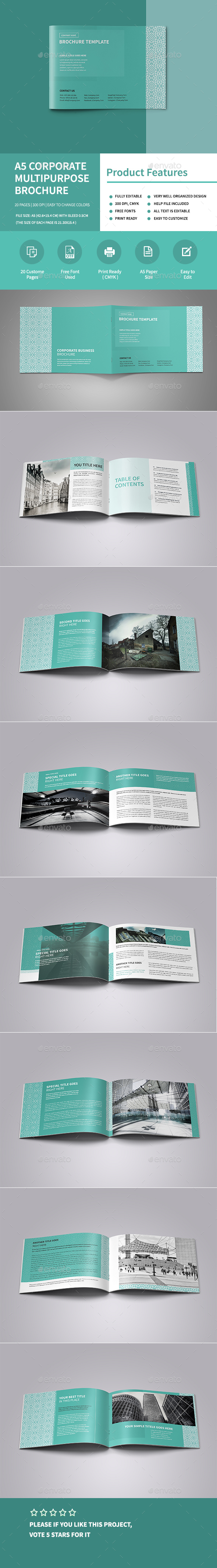 A5 Corporate Multipurpose Brochure - Corporate Brochures