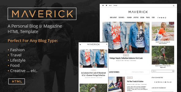 Maverick - Multipurpose HTML Blog Magazine - Entertainment Site Templates