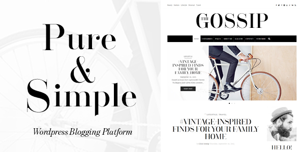 GossipBlog – Pure & Simple Personal WordPress Blog